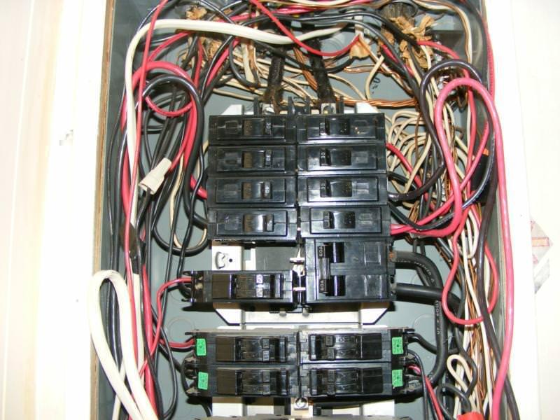 Messy Wiring Circuit Breakers - Electrical Work Wiring Diagram •