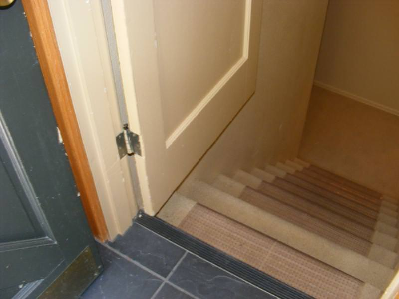 Doors should not swing over stairs & Doors should not swing over stairs-usually. - Charles Buell ...