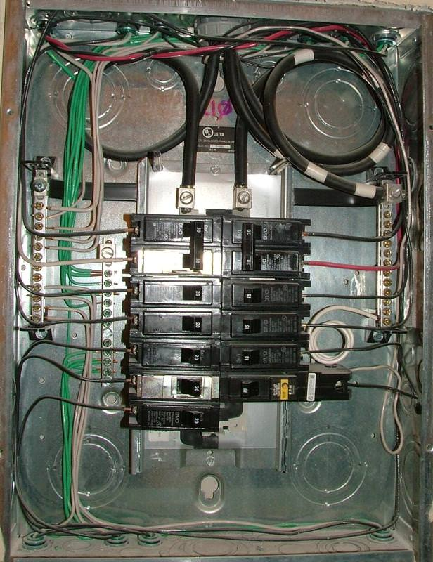 Split bus electrical panels no main breaker charles buell nicely wired sub panel greentooth Choice Image