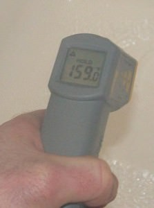 Very high water temperature
