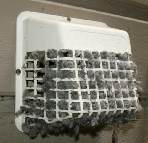 Clogged dryer vent caps charles buell inspections inc