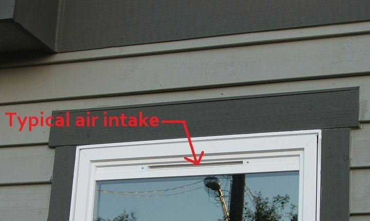 these air intakes at the windows are one of the ways to meet modern energy code to bring fresh air into the home the problem with them is that