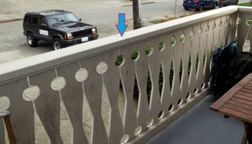 Non-continuous deck barrier railing