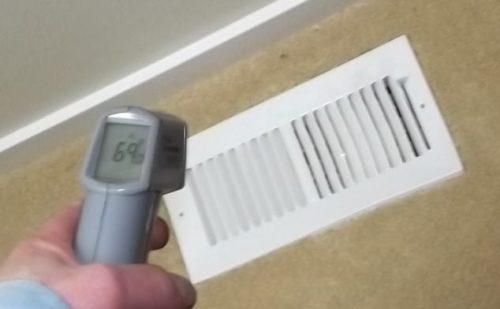 Cool air at heat register