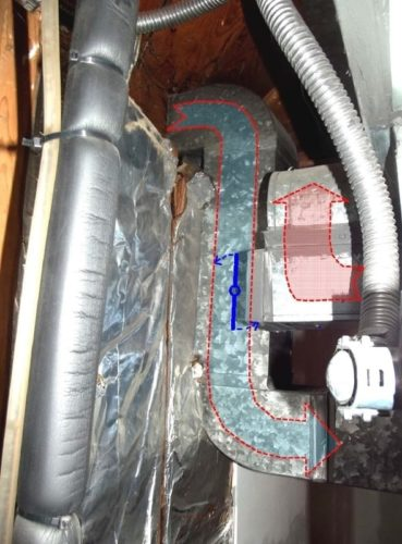 Air intake in conflict with heating and cooling