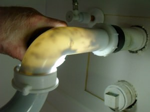 Clogged sink drain