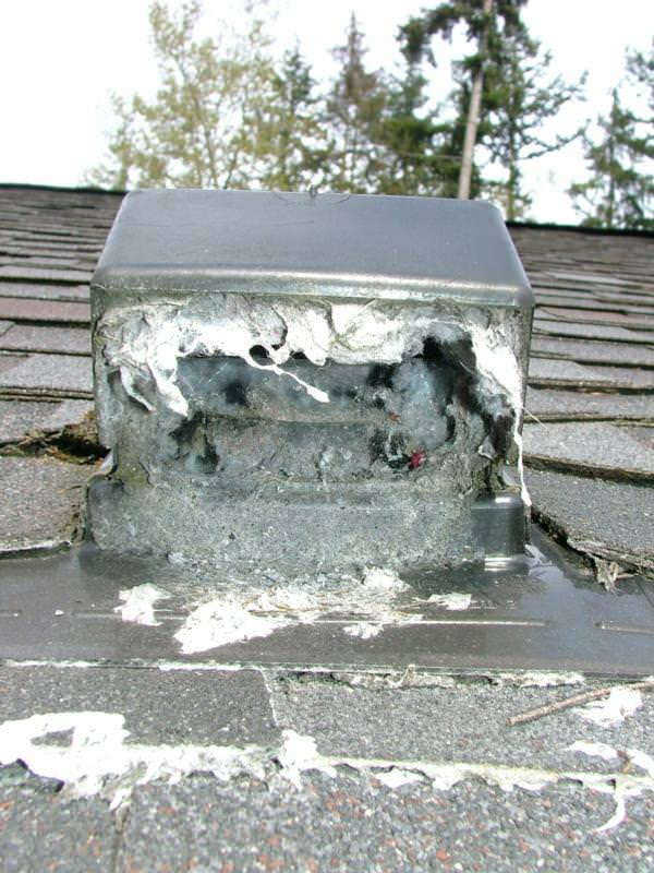 Plugged dryer vent on a very high roof----will it get cleaned?