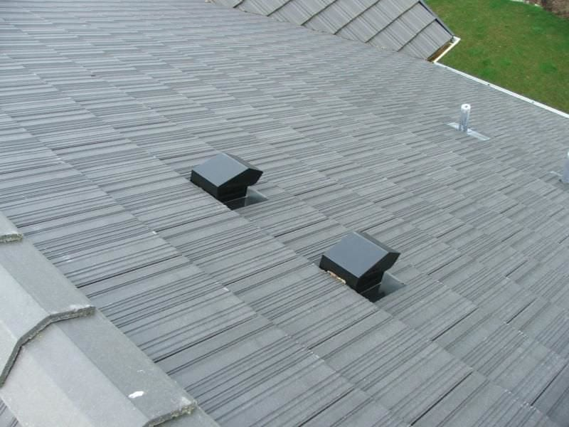 Two vent locations on the roof