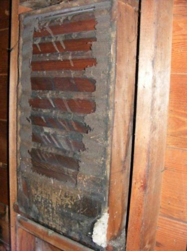 Gable Vent with rusted screen