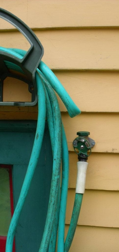 hoses left in place in winter