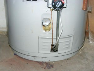 Outer door of a water heater properly installed