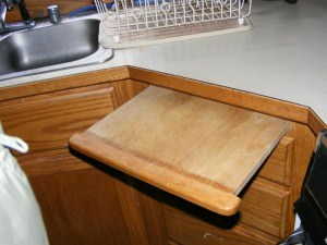 Pull Out cutting boards are often in poor condition