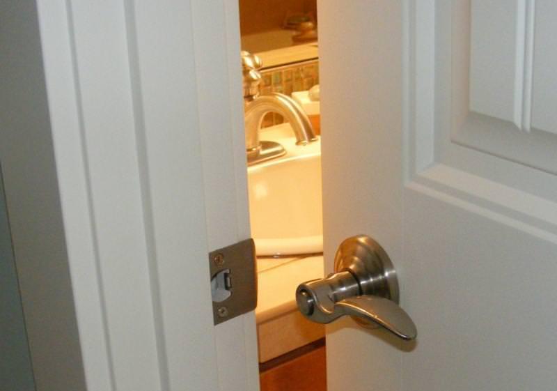 Lockset installed backwards
