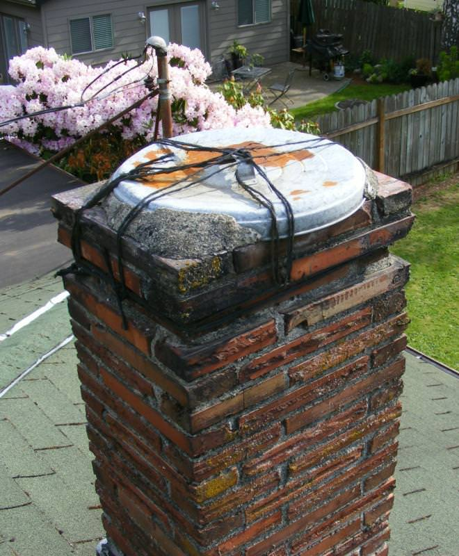 One way to keep moisture of a chimney