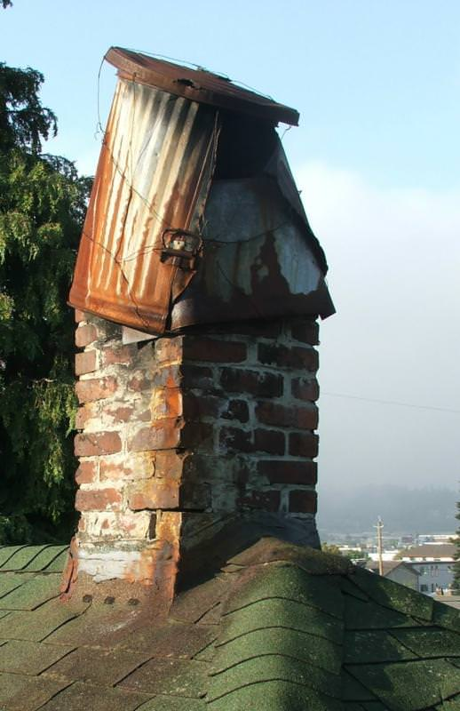 Another novel way to keep moisture our of a chimney