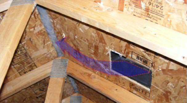 Improper attic venting