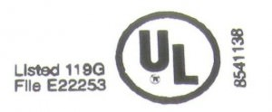 Typical UL Listing label