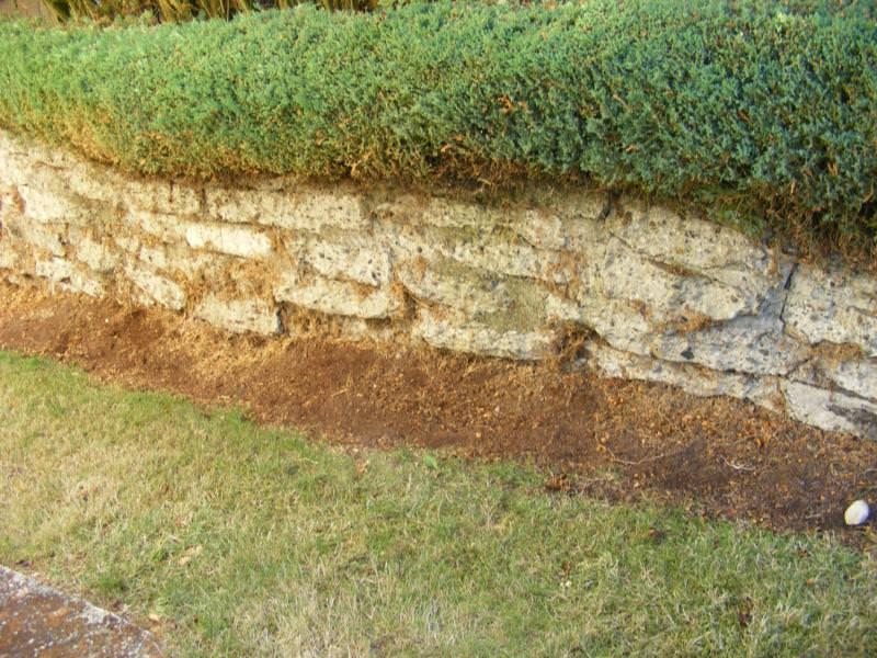 Concrete Rubble Retaining Wall