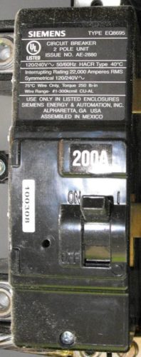Main Breaker in Service Panel
