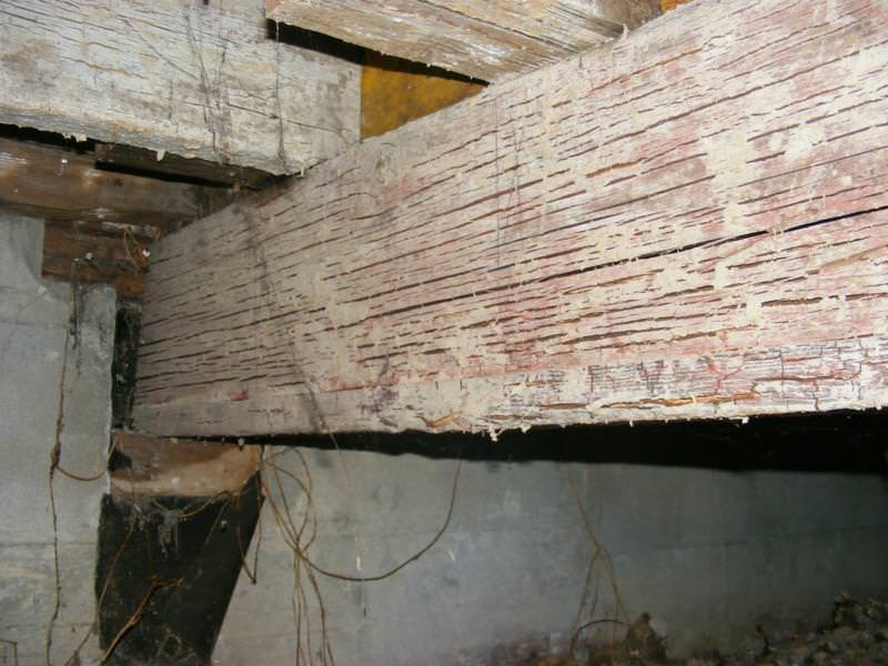 Badly checked beam from decay/rot