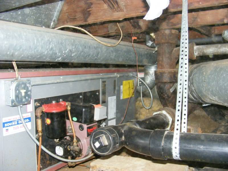 Poor plumbing installation