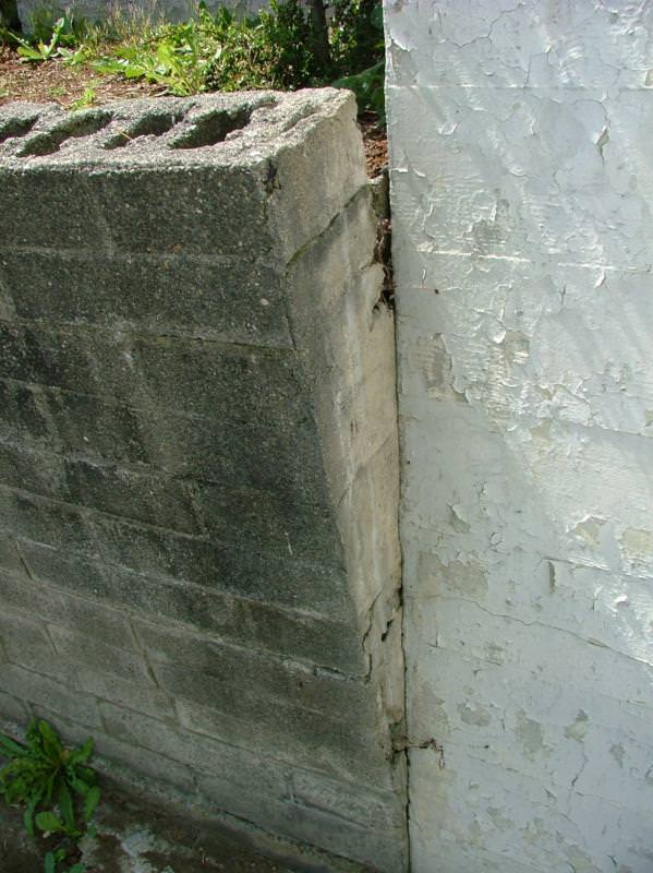 Another leaning retaining wall