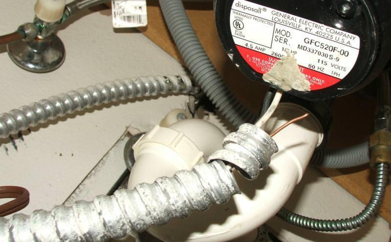 Improper wiring to disposal