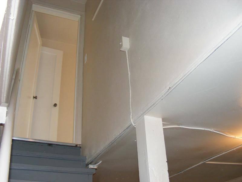 Light switch location for basement light
