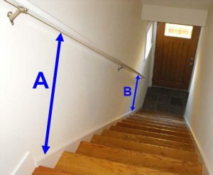 Stair handrails