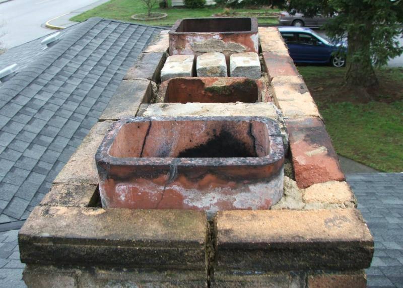 Totally missing chimney mortar cap
