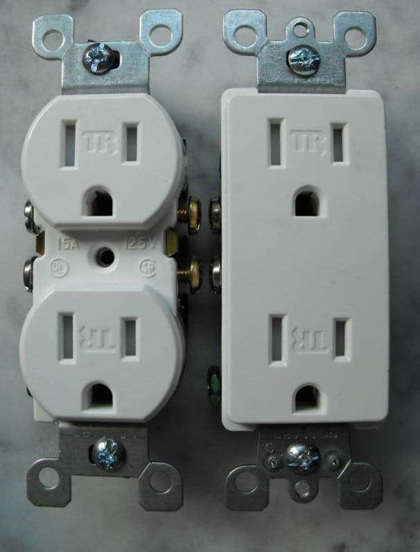 Modern tamper resistant receptacles