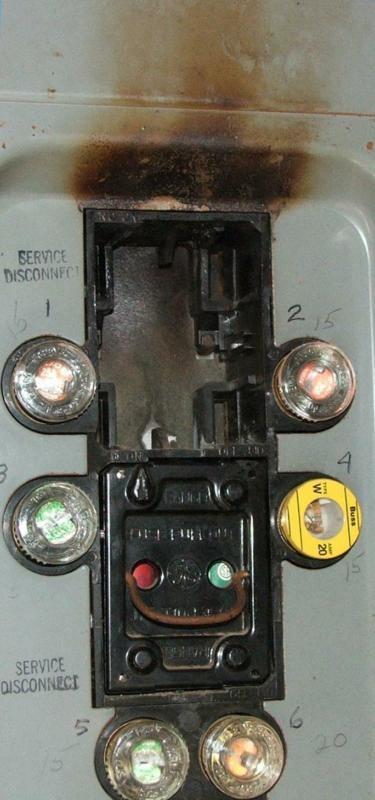 Overheating electrical panel