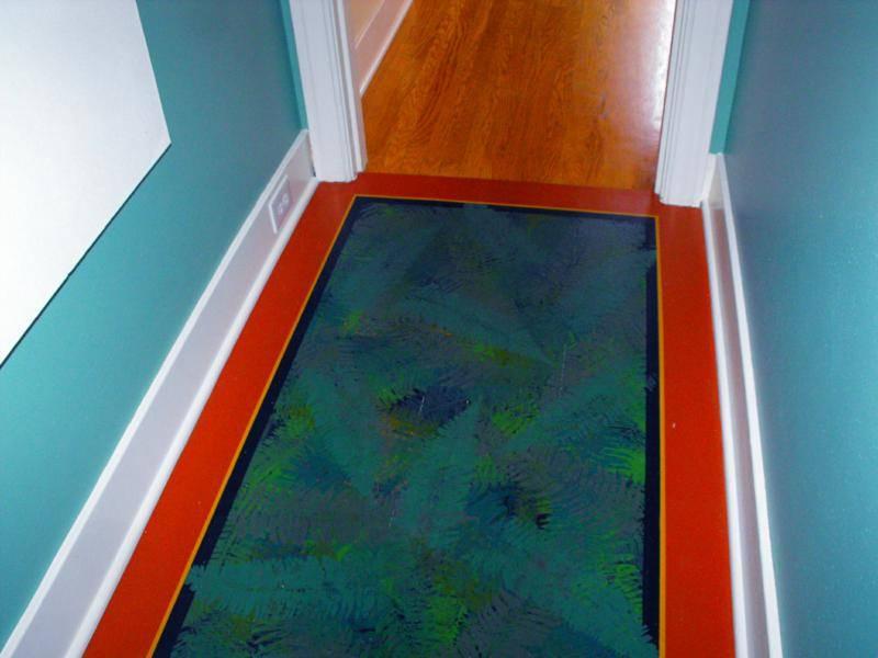 Fern leaf Faux floor
