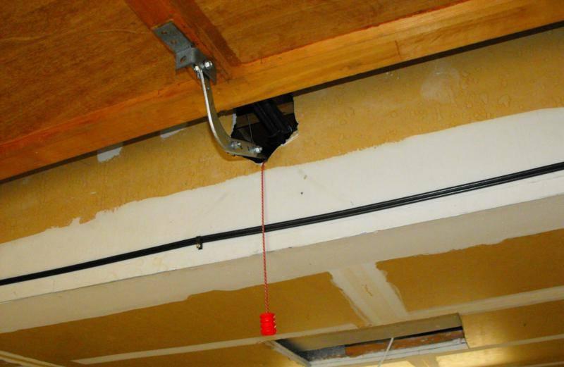concealed overhead door opener
