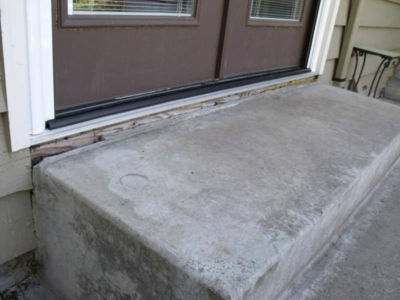 Concrete Stoop settlement