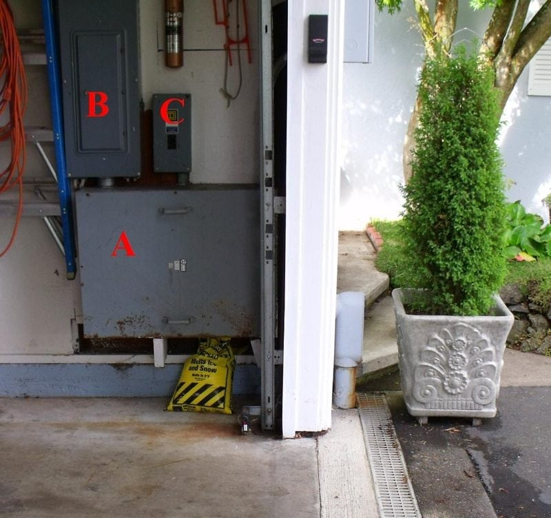 The house Electrical Service Equipment