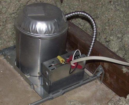 Improper can light installation