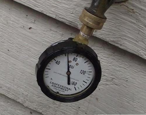 More normal water pressure
