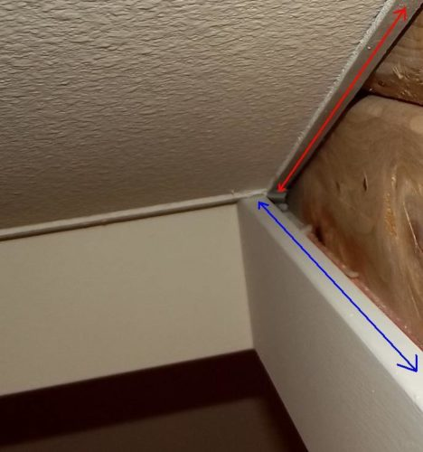 Weather-stripping on attic access hatch cover
