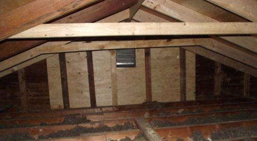 Repairs in the attic