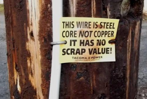 Ground wire warning
