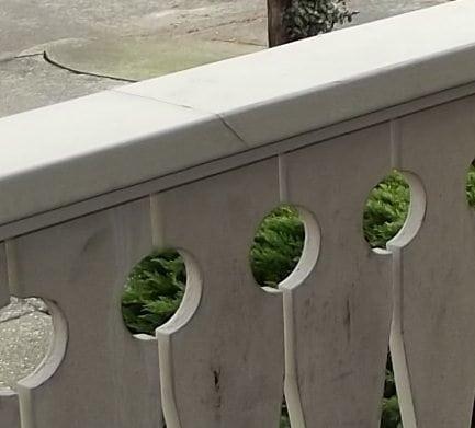 split top railing